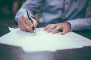 Podpis smlouvy - občanské právo